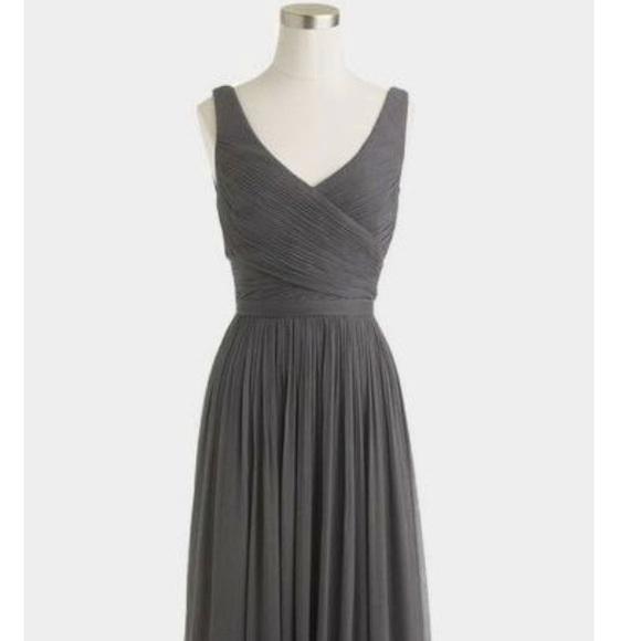 5b73f176027 JCrew Heidi long dress Silk Chiffon